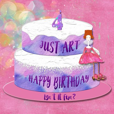 Just Art Birthday Cake