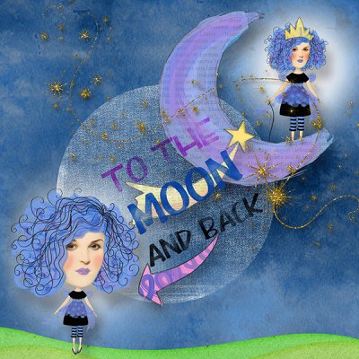 To The Moon And Back - PopUp Word Play