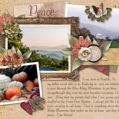 August Mood Board Challenge - Peace