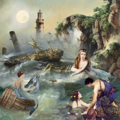 Mythical Sea Nymphs and Sirens