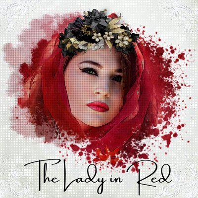 The Lady In Red - PopUp Mask HalfTones