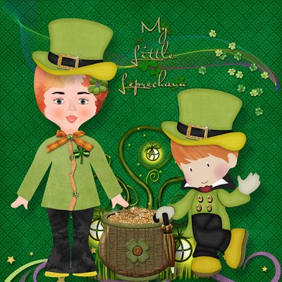 St Patrick's Day Paper Doll