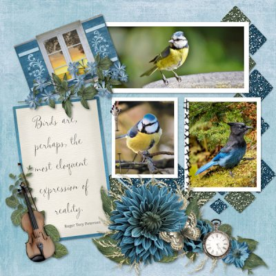 July - Karen's Template Challenge - Birds