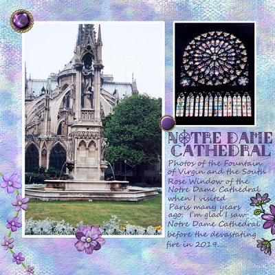 July Traditional Page Notre Dame