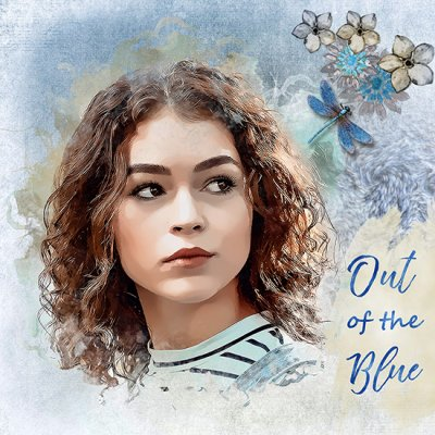 Out Of The Blue - Anita September Mask