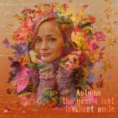 Autumn Smile - October Double Exposure