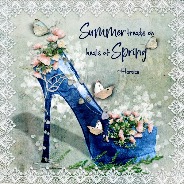 April Decorate A Shoe Challenge - Spring