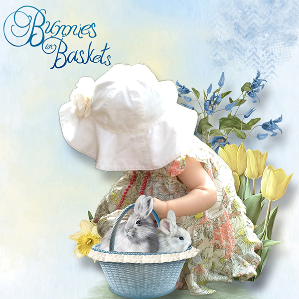 Bunnies In Baskets - May