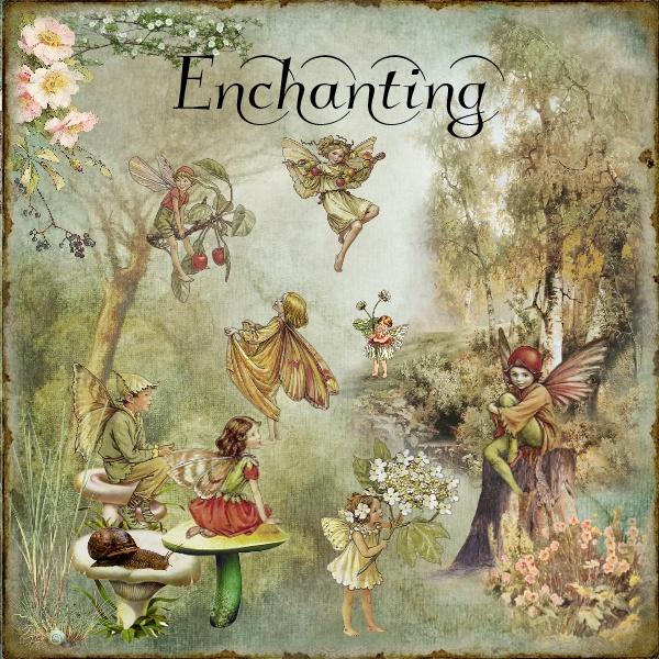 Fantasy Page - Fairies in my Garden