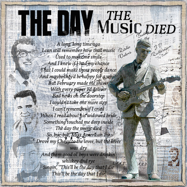February Mood Board - The Day The Music Died