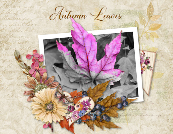October Altered Photo - Autumn Leaves