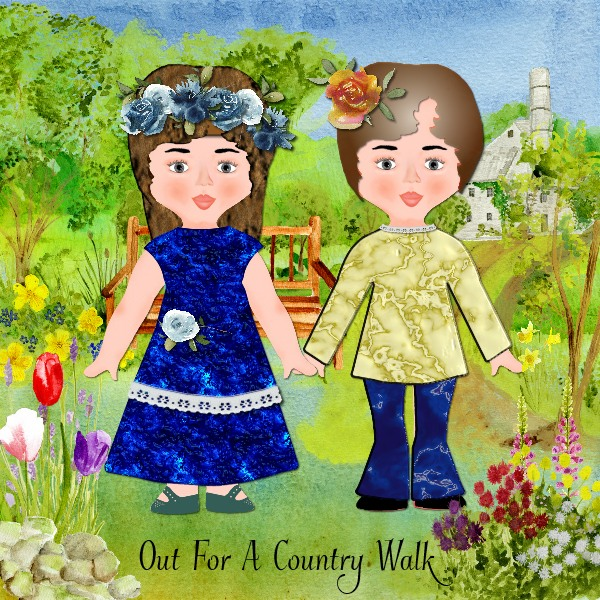 Spring Paper Dolls - Country Wals